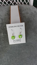 Sterling Silver Green Murano Glass Earrings Dobbs Boston Italy