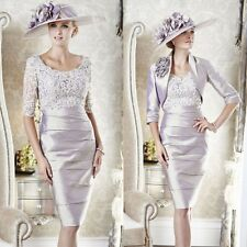 Gorgeous Knee Length Mother Of The Bride Lace Applique Outfits Formal Dress 2016