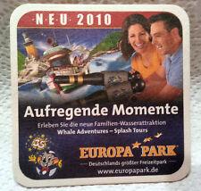 Dessous de verre parc d'attractions Europa-park rust. 2010. Bitburger.