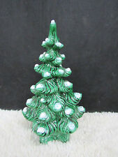 Atlantic Mold Glossy Christmas Tree with White Snow Tipped Branches, Not Lighted