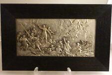 S2 - Relieff - Platte WMF Bild versilbert Diana Jagt   48cm x 29,5 cm
