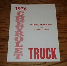 1976 Chevrolet Truck Wiring Diagram Manual for Complete Chassis 76 Chevy