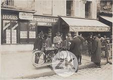 RUDGE-WHITWORTH Moto MOTORCYCLE Cinema PATHE Café Publicité Rue Photo 1910s