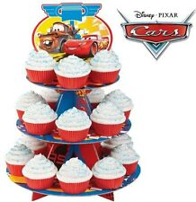 Disney Cars Party Cake Tier Stand & Cupcake cases set