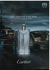 Publicité Advertising 2012 Déclaration d'un soir Par Cartier