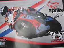 Poster TRG Aprilia RSV4 Dutch Super Bikes 2013 #7 Randy Gevers (NED) signed