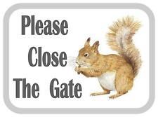 Si prega di chiudere il cancello Scoiattolo Design in Metallo Porta Firmare