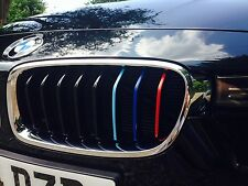M Colored Kidney Grille Stripe Decal Sticker Set For BMW 3 Series Models
