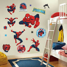 3D Cartoon Spiderman Wall Stickers Mural Art Decals Kids Home Room Nursery Dec