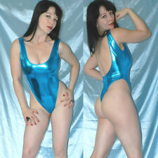 Alta piernas lackbody Shiny metalizado brillante * s azul stringbody * quisquilloso