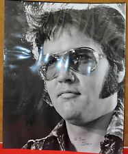 ELVIS PRESLEY ORIGINAL LARGE B&W PHOTO SEAN SHAVER COLLECTION HAND SIGNED