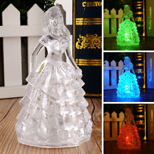 Toys Colorful Changing Princess Acrylic Crystal Night Light Gift Home Lamp