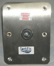 """BOAT SEAT, SWIVL-EZE, 6""""X8"""" STAINLESS STEEL 66839 BASE FOR  3/4"""" PIN POST"""