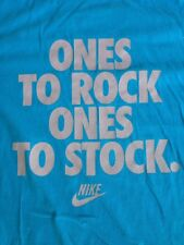 Nike Sneakerhead Ones to Rock, Ones to Stock 100% Cotton Blue T-Shirt XL