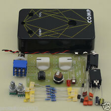 DIY Compressors effect pedal Kit guitar stomp pedals Kit Black With 1590B Box