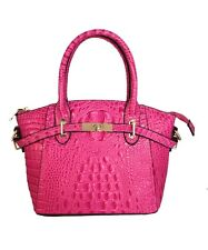 FIORI EE0019 Rose Pink Genuine Crocodile Pattern Cow Leather Handbag.
