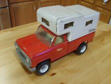 PRESSED STEEL TOYS - '69 TONKA TOYS RED DODGE CAMPER TRUCK