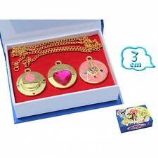 SAILOR MOON MARS JUPITER MERCURY VENUS ANIME COSPLAY SET COLLANA NECKLACE LUNA 2
