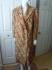 M Missoni Winter 2014-2015 Floral Print Oversized Long Coat Size:M NWT ITALY