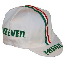 NEW Bella Capo Cycling/Bicycle Cap - White Seven 7-Eleven Design - Made in Italy