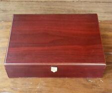 Bentleys Finest Teas Burgundy Wood Storage Box Container 12 Flavor Compartments