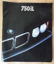 BMW 750iL V12 orig 1987 1988 UK Mkt Large Format Prestige Sale Brochure 7 Series