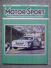 Motor Sport (March 1983) Ferrari 308 GTBi, Ford XR3i, RS1600i, Daytona 24 hrs