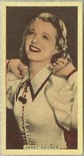 Janet Gaynor 1935 Godfrey Phillips Stage and Cinema Beauties Tobacco Card #41