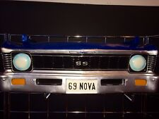 1969 Chevrolet Nova SS Resin Wall Shelf, Blue
