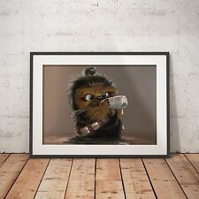 Baby Chewbacca Cute Star Wars - A4 Glossy Poster - FREE Shipping