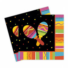 16 Mexican Fiesta Party Napkins Mexican Party Supplies | Fiesta Party Tableware