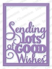 "Impression Obsession DIE365 ""Good Wishes Word Block"" 1 Metal Dies NEW"