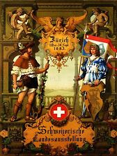 EXHIBITION CULTURAL SWITZERLAND ART MUSIC ALPINE HORN VINTAGE AD POSTER 1742PYLV