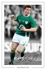 BRIAN O'DRISCOLL IRELAND RUGBY SIGNED AUTOGRAPH PHOTO PRINT