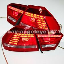 2012-2014 Year For VW Passat V6 B7 LED Tail Lights Lamps Erro Free Cherry Red