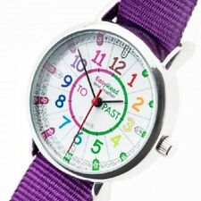 NEW! EasyRead Time Teacher Kids Watch Tell the Time Purple Band - Coloured Face