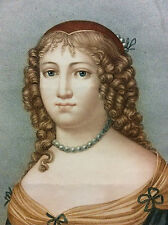 Madame de Sévigné gravée par Parfait Augrand d'après Petitot Joseph XIXe
