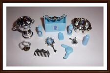 Horse Grooming Accessories - With A Carrier, Trophy Etc..  - For Barbie - Mattel