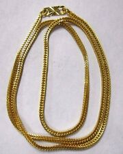 22k YELLOW GOLD LAYERED WOVEN BOX NECKLACE