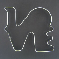 """LOVE 5.25"""" METAL COOKIE CUTTER VALENTINE PARTY FAVORS WEDDING BRIDAL SHOWER NEW"""