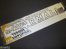 NEW FARMALL / McCORMICK TRACTOR DECAL SET IHC-SMD  FREE SHIPPING