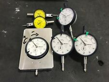LOT 4 X Mitutoyo 2046S Dial Thickness Gage 0-10 X 0.01mm + 2 X Mitutoyo 513-404