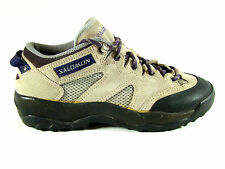 Salomon Hiking Trail Shoes Womens 6.5 Gray Purple Contagrip Outsoles