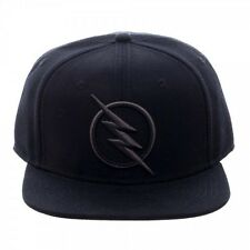 DC COMICS SOLID BLACK REVERSE FLASH ZOOM LOGO SNAPBACK HAT CAP LIGHTNING BOLT