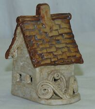 Vintage Windy Meadows Miniature Cottage House Hand Made Pottery USA