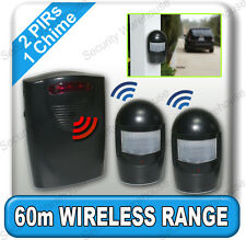 A9BB WIRELESS DRIVEWAY ALERT Chime WEATHERPROOF PIR Motion Sensor Garage Alarm