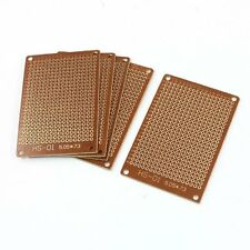 5Pcs Brown 2.54mm Pitch PCB Prototype Veroboard 50mmx70mm LW