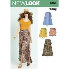 NEW LOOK SEWING PATTERN MISSES' EASY WRAP SKIRTS IN 4 LENGTHS SIZE 6 - 18 6456