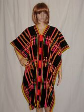 vtg HIPPY boho 70s CAPE poncho LITTLE PEOPLE ethnic MEXICAN festival FREE SIZE