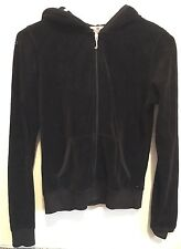 Medium Juicy Couture womens Hooded zip up velour jacket